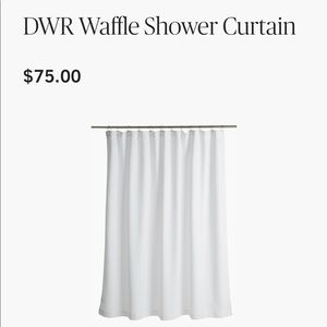 NWT Design within reach waffle shower curtain